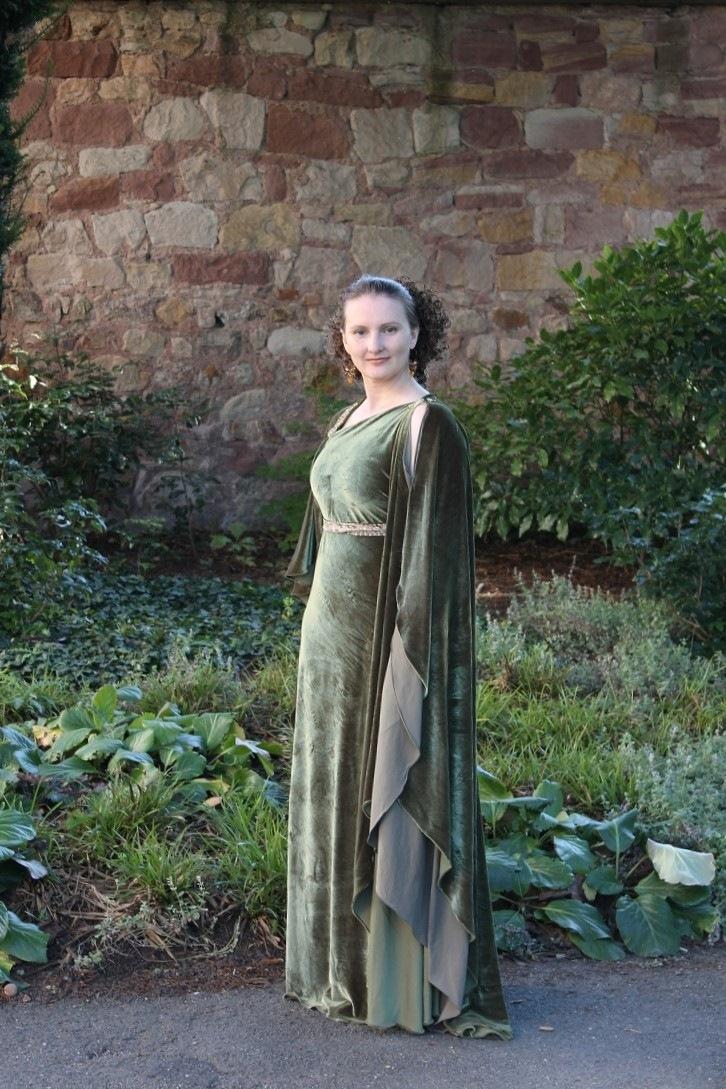 Evening dress - greek olive_02