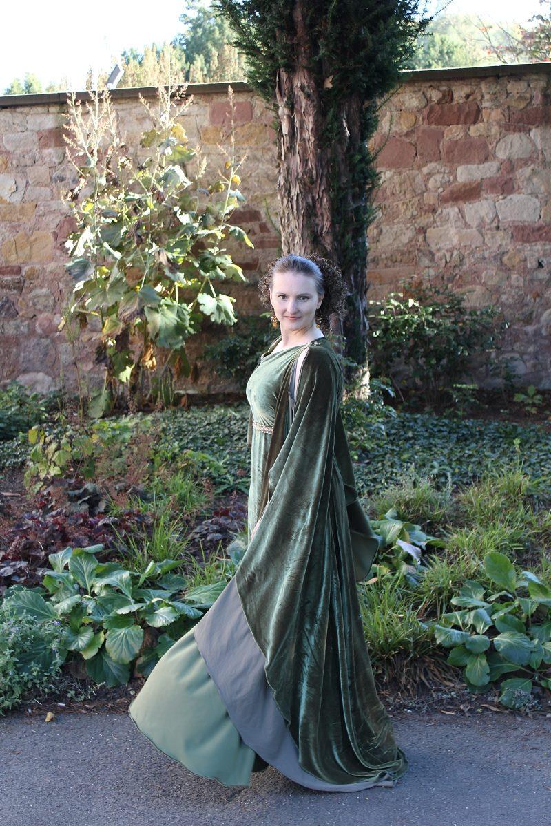 Evening dress - greek olive_04