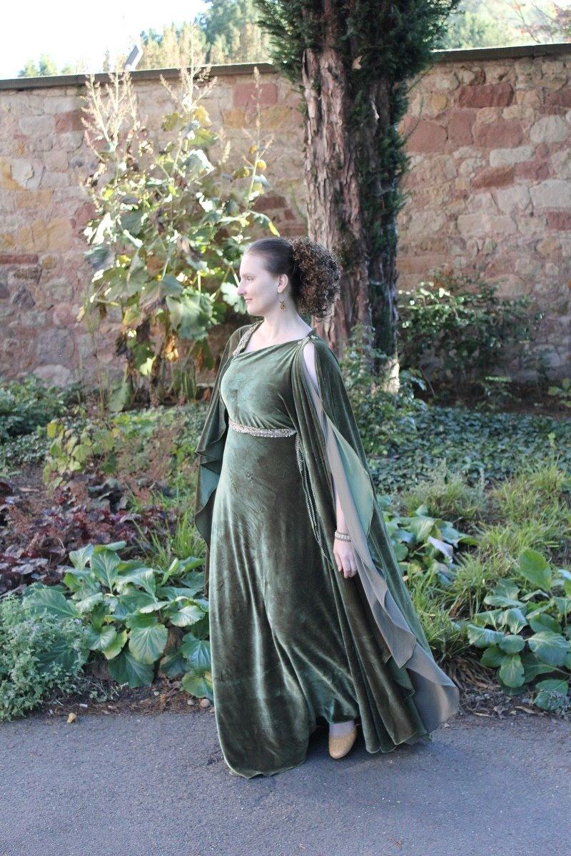 Evening dress - greek olive_05