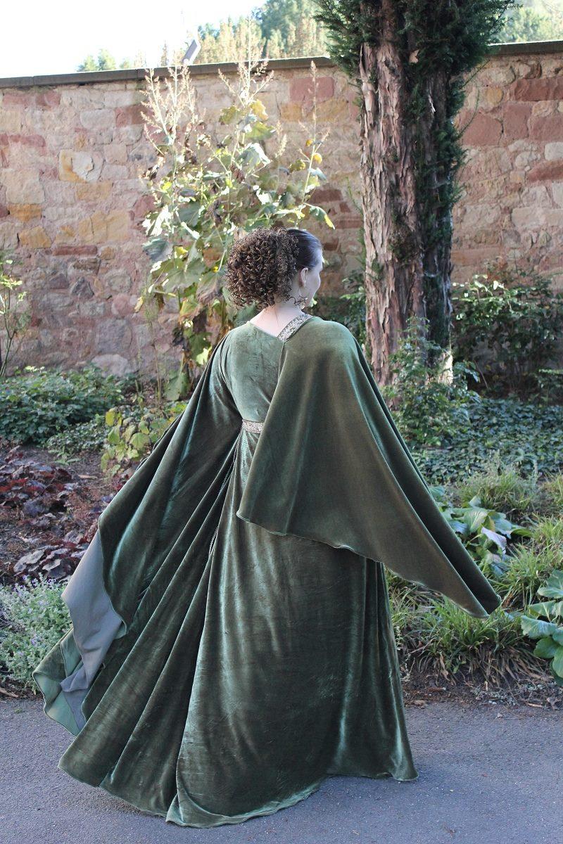 Evening dress - greek olive_07
