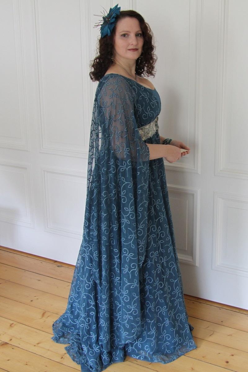 Evening dress - Leia teal_02