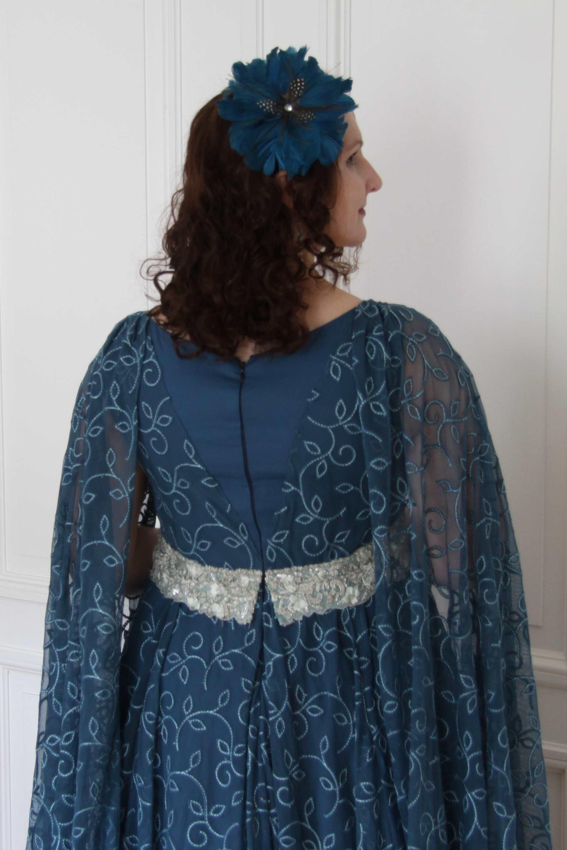 Evening dress - Leia teal_06