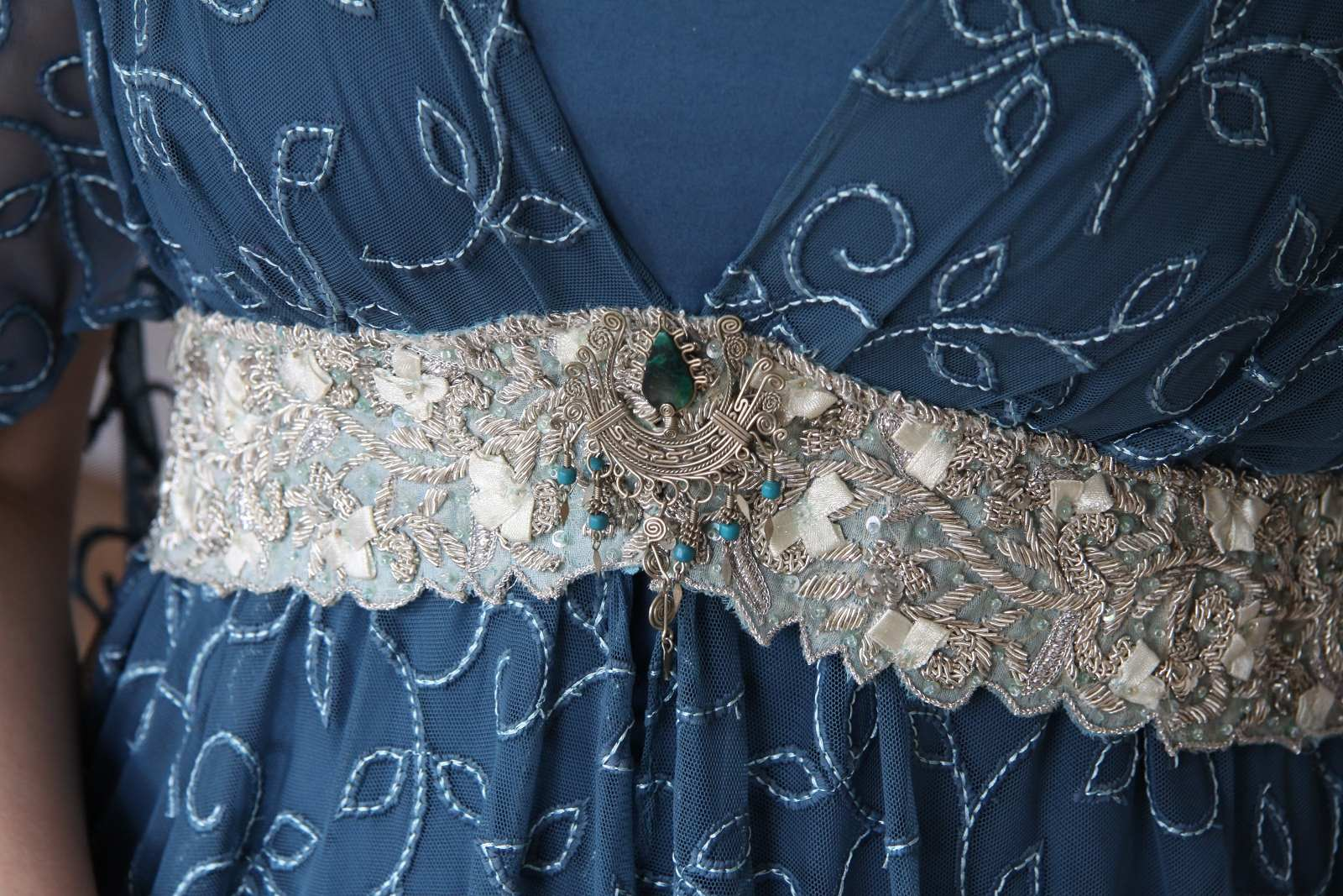 Evening dress - Leia teal_08